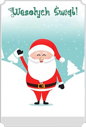 Karta upominkowa - św. Mikołaj